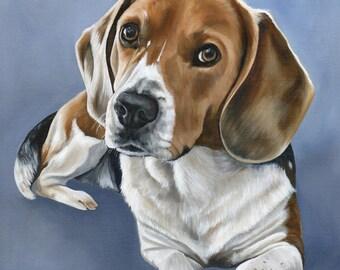 Custom Dog Portrait, Dog Painting, Custom Pet Portrait, custom size 18 x 18