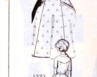 1960s Mail Order 1373 FF Vintage Sewing Pattern Misses Shirtwaist Dress, Half Size Dress Size 22-1/2 Bust 45