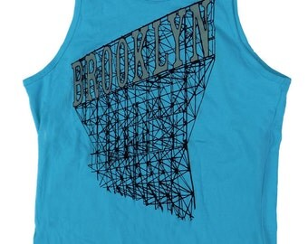 Brooklyn Tank Top in Men's Turquoise Blue