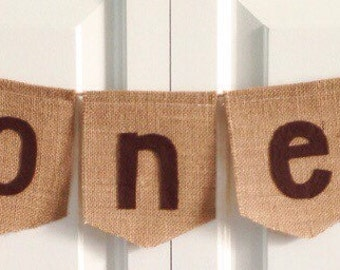 Woodland fox and raccoon ONE burlap banner -high chair banner -woodland animals -photo prop - 1st birthday