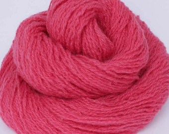 Wool recycled upcycled thrifted reclaimed yarn hot pink - 200 yards - William Baffin Rose