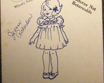 Vintage smocking/sewing basic yoke dress pattern by Little Elegance.  1977.  Size 4.