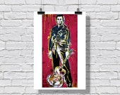 "12 x 18"" - Johnny Cash art print - Johnny Cash poster - country music art - country music poster - pop art poster - the man in black"