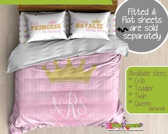 gold pink princess custom kids comforter kids duvet customized children