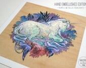 Unicorn EMBELLISHED EDITION - Fine Art Print by Nicole Gustafsson