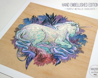 Unicorn EMBELLISHED EDITION - Fine Art Print by Nicole Gustafsson