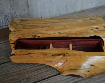 Medium Aromatic Cedar Jewelry Box, Band Saw Box Hidden Drawer, Hidden Drawer, Gifts for Him, Wood Carvers of Etsy 1583