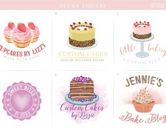Bakery Logo, Cake Logo, Baker Logo, Cupcake Logo, Cupcake Bakery Logo, Pastry Logo, Premade Cupcake Logo, Branding Cupcakes, Candy Logo