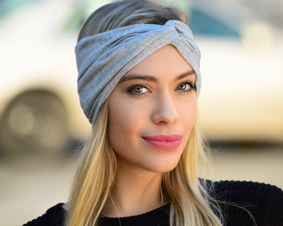 Boho Turban Headband Women's Headwrap Hair Accessory Silver Headband Fall Fashion Accessory Yoga Headband Soft Knit Headband Women's Gift