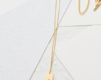 On Sale 20% Off, Formica Long Squares Necklace, pastel pendant