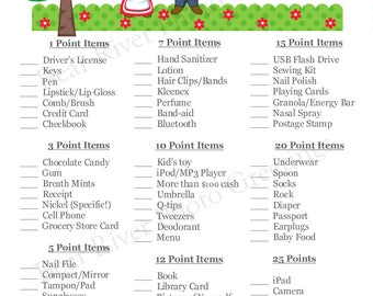 Instant Download - What's In Your Purse Shower Game - Gnomes - Printable PDF