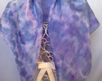 Blue square scarf, Square Scarf, handpainted scarf, silk scarf, blue silk scarf, blue, indigo, purple, sapphire, handpainted silk, S525