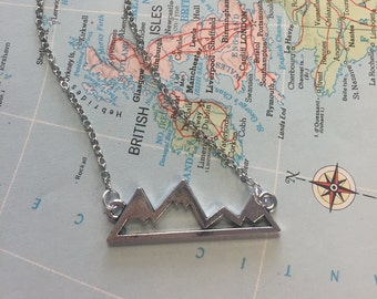 The Victoria Necklace - Mountains Charm Necklace
