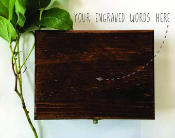 Create Your Own Custom Engraved Wooden Box - Ring Box, Gift Box, Memory Box, Wooden Box, Storage Box, Keepsake Box, Wedding Gift