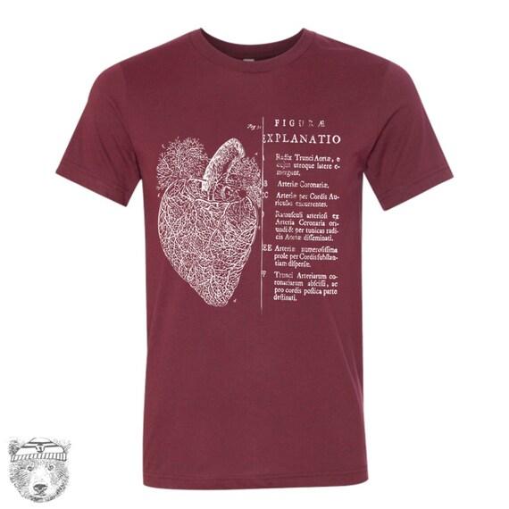 Mens Vintage ANATOMICAL HEART T-Shirt s m l xl xxl (+ Color Options)