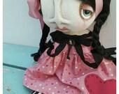 Valentine Goth Art Doll by Grimitives  LUELLAH