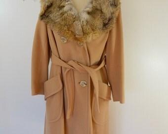 on sale Vintage MISS MADISON fancy ladies COAT fur collar Union Made usa