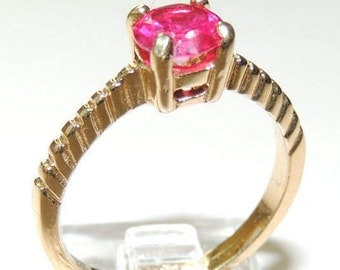 Size 8.5 Red Stone  Ring