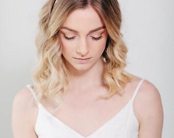 Rhinestone Bridal Headband | Bridal Headpiece | Crystal Wedding Hairband | Hair Piece [Moonlit Frost Headband]