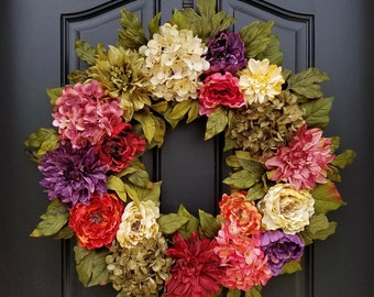 SUMMER WREATHS, Front Door Wreaths, Summer Door Wreaths, Beauty of Summer, Most Beautiful Wreaths, Wreaths of Beauty, Colorful Wreath