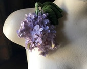 SALE Silk Lilac Flowers in Soft Lilac for Bridal, Millinery, Floral Supply, Crafts, Corsages MF207