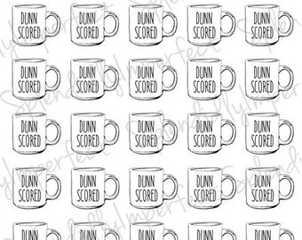 Tiny Mug Collector Stickers for Planners - TINY HEINEYS