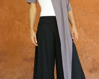 Black Wide Leg Trousers, Bell Bottoms, Casual Pants, Black Maternity Pants, Plus Size Trousers, Designer Pants, Asymmetrical Pants