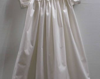 Eva lace and cotton baptism, christening, blessing gown, dress