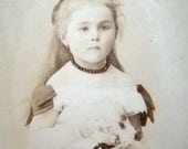 RESERVED for Robyn - Antique French Carte de Visite, Antique Victorian girl CDV - please do not buy unless you're ROBYN