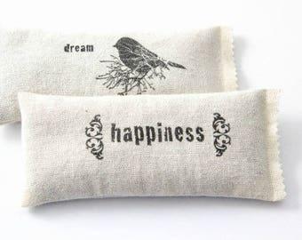 Lavender Dream Pillows, womens gift, lavendar sachets, rustic home fragrance, dream happiness bird decor