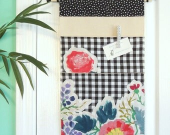 Wall or Door Hanging Organizer in a Large Two Pocket Design