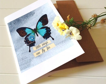 butterfly greeting card, encouragement card, inspirational greeting card 4x6