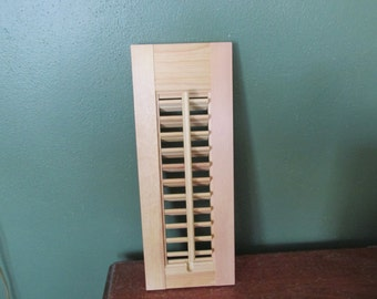 Wood Shutter Panel Unfinished No Hardware One Panel Only