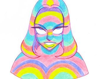 Rainbow Lady A