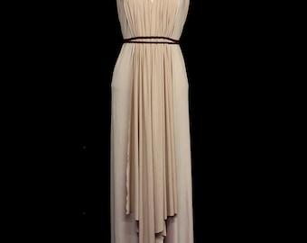 Gia Draped Jersey Maxi Dress - Made to Order - FREE SHIPPING WORLDWIDE