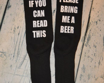 Bring me Beer Socks stocking stuffer gag gift - Beer Crew Socks