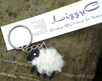 LizzyC Sheep Keychain - Peg