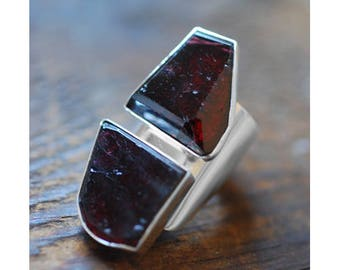 Dollybird Rhombic Ring Raw Garnet