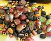 Assorted Beads, Czech Glass Beads, Etched Glass, 9x6mm Teardrop++ (#3HC)