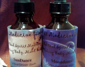 Sundance & Moondance - Healing the Divine Feminine and Masculine - 2oz Spirit Medicine Essence. Flower Essence, Gem Essence, Herbal Remedy