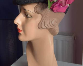 1940's Woven Percher/Cap/Hat.