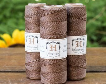 Brown Hemp 10lb,  Macrame Cord, Hemp Twine, Bead Cord, Light Brown Twine -TW16