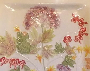 X Large WALL FLOWER Ceramic-Watercolor  Fine interior design one-of-a-kind home office decor handmade AND hand glazed by Faith Ann Originals