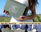 Bride to Groom Gift, Groom to Be, Gift for Groom, Personalized .50 cal Ammo Can, Gift for Groom from Bride, Wedding Day