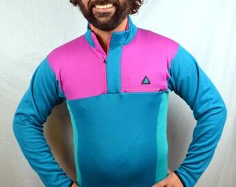 Vintage 80s Neon NIKE ACG Sweatshirt Jacket Pullover