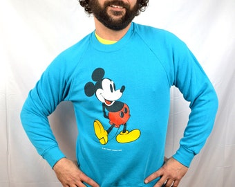 Vintage 80s Blue 1980s Mickey Mouse Sweatshirt