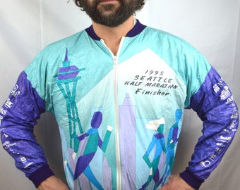 Vintage 1995 Tyvek Jacket - Seattle Half Marathon