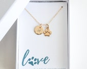 Personalized Pet Charm - Custom Dog Charm - Custom Pet Lover Gift - Gold Pet Necklace - Personalized Pet Accessories - Custom Pet Charm