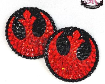 Rebel Alliance Star Wars Inspired Rhinestone Nipple Pasties - SugarKitty Couture
