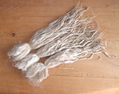 Suri baby finest 17 mic Alpaca locks raw 10-11 in unwashed white premium fiber for Doll OOAK Hair -  spinning, felting,